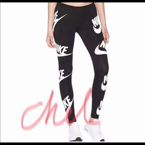 Nike all over logo leggings